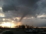 A funnel cloud look-alike seen from northeastern Fort Wayne. (W9LW photo)
